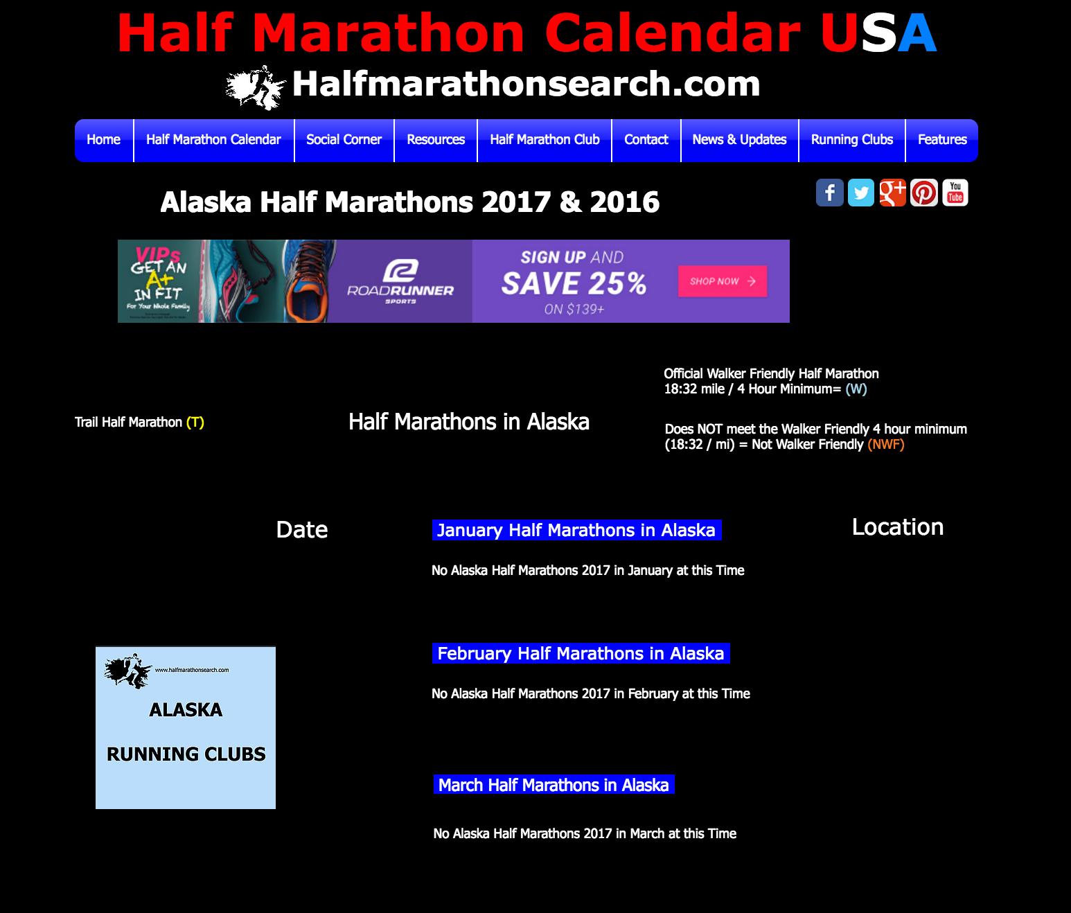 Search For Alaska Half Marathons Alaska Half Marathon Calendar Usa Half Marathon Schedule Http Www Halfmarathonsearc Calendar Usa Half Marathon Marathon