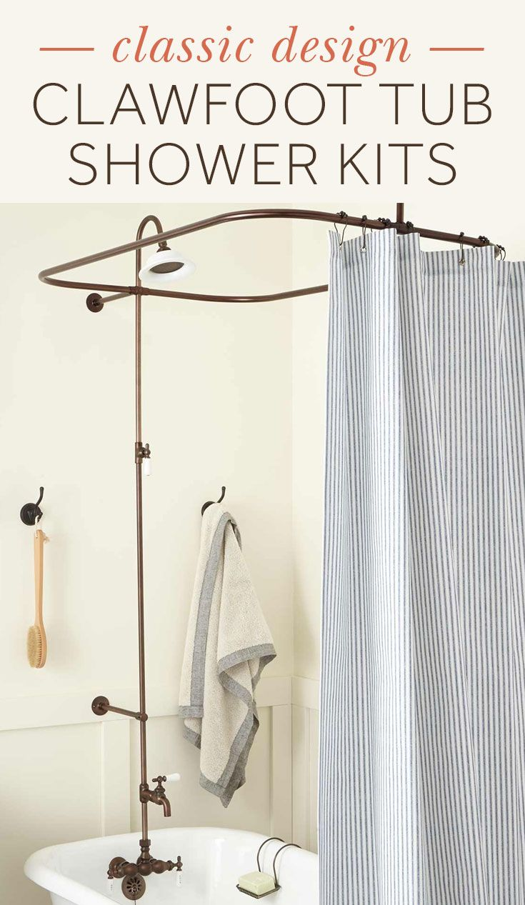 Convert Your Clawfoot Tub Into A Full Shower With Signature Hardware S Selection Of Clawfoot Tub Shower Kits Clawfoot Tub Shower Clawfoot Tub Shower Tub