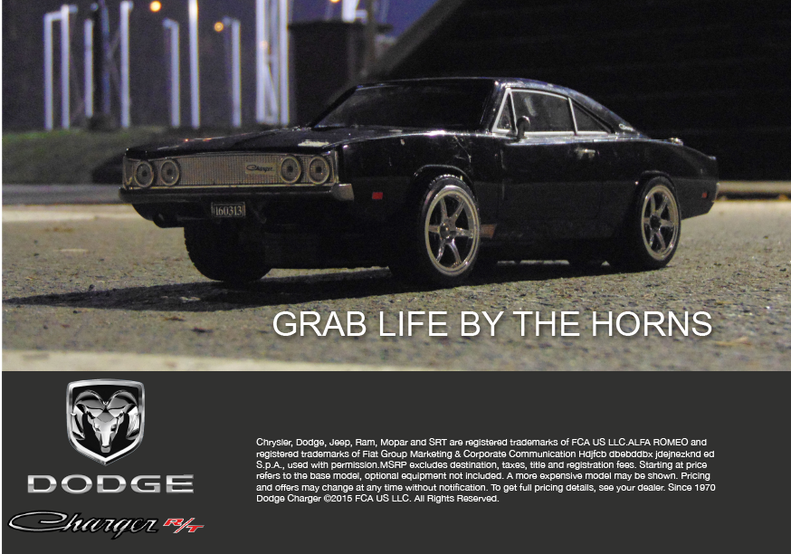 car advertisement with rc car
