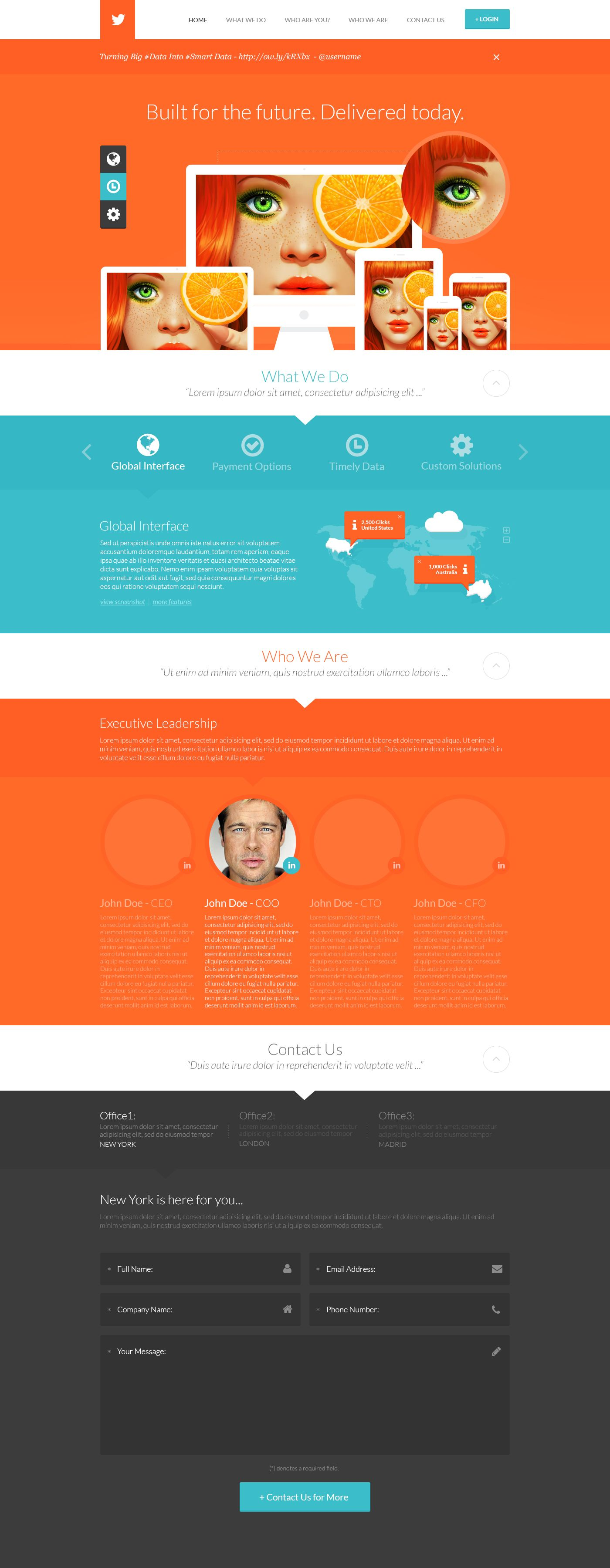 Teal And Orange Web Layout By Detrans On Deviantart Web Layout Web Development Design Orange Web