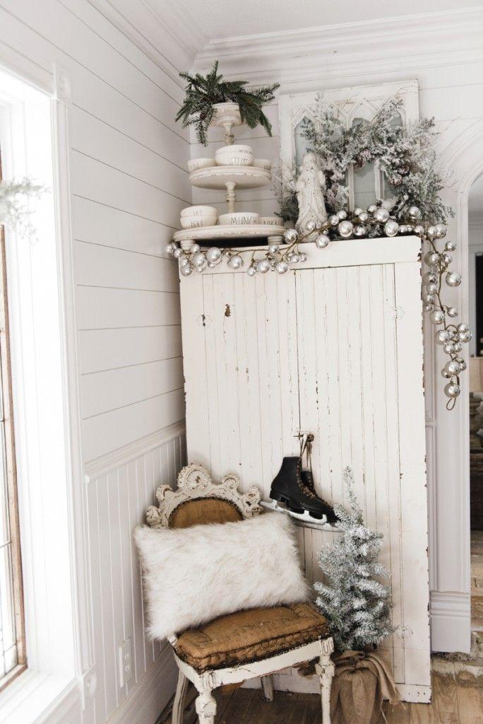 farmhouse christmas cabinet rustic santa a must pin for rustic farmhouse christmas decor - Farmhouse Christmas Decor Pinterest