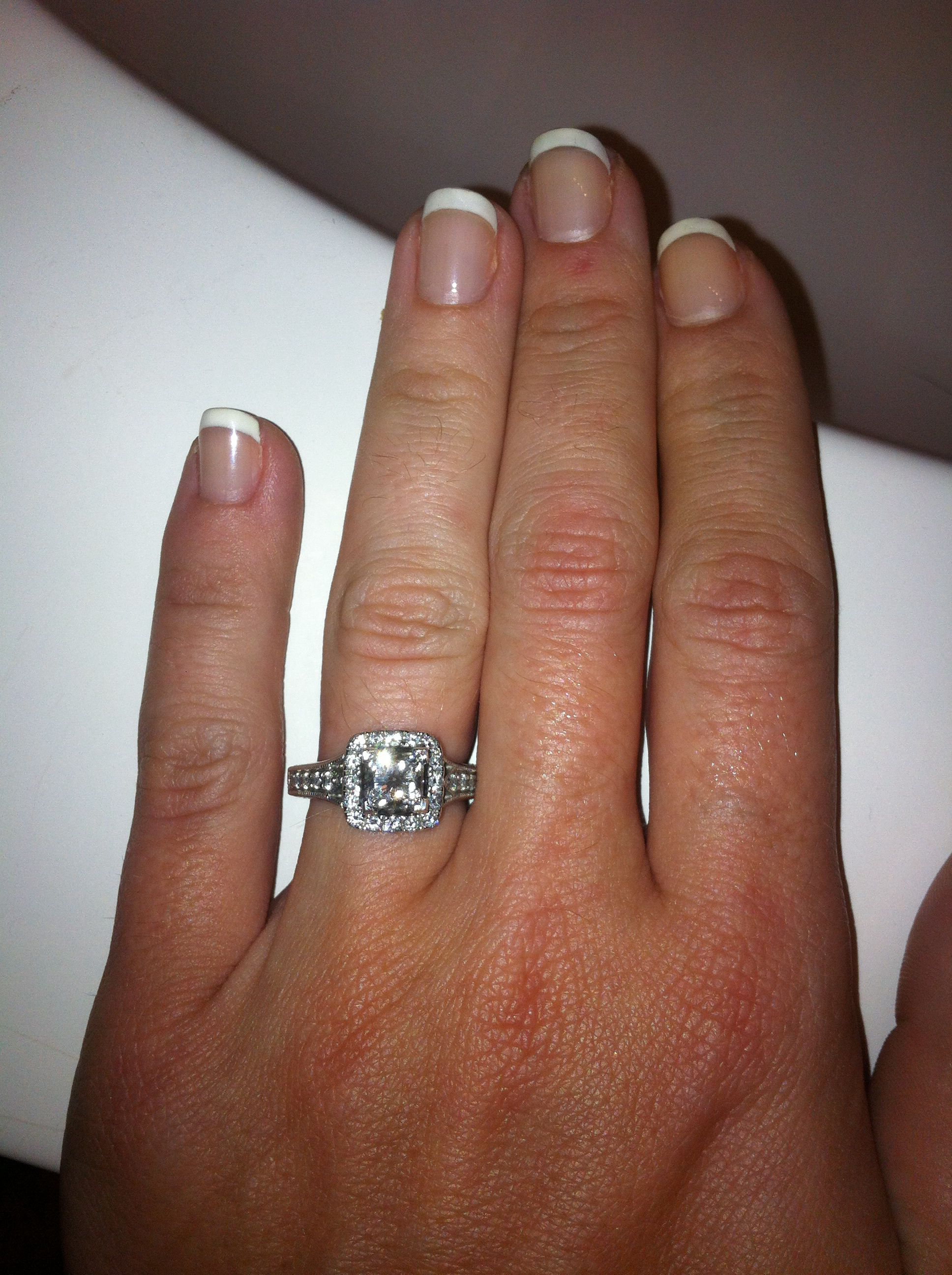 My Engagement Ring Ideal Cut Tolkowsky Diamond With Halo