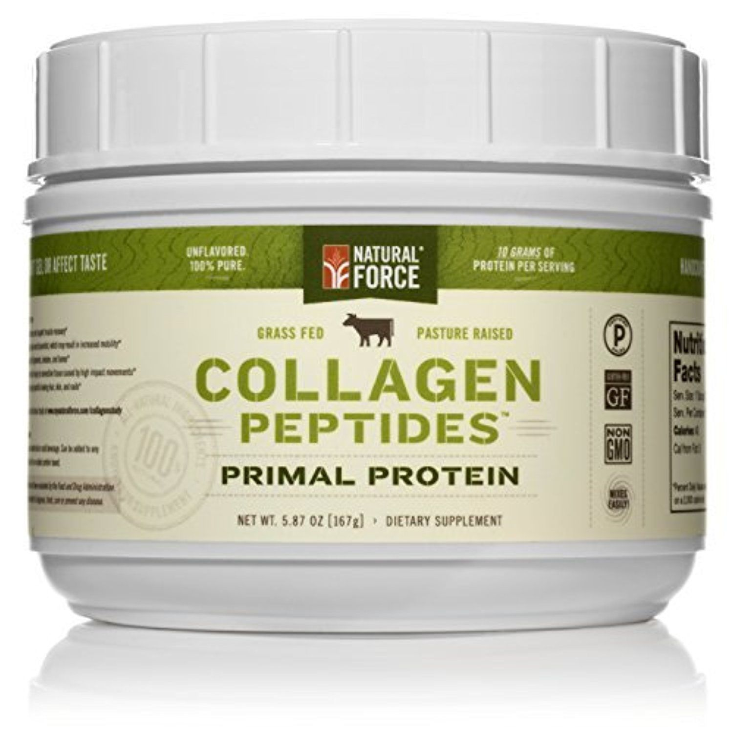 Natural Force Collagen Peptides 1 Rated Paleo Protein Powder 100 Free Range Hydrolyzed Collagen Protein For Spo Collagen Peptides Collagen Protein Collagen