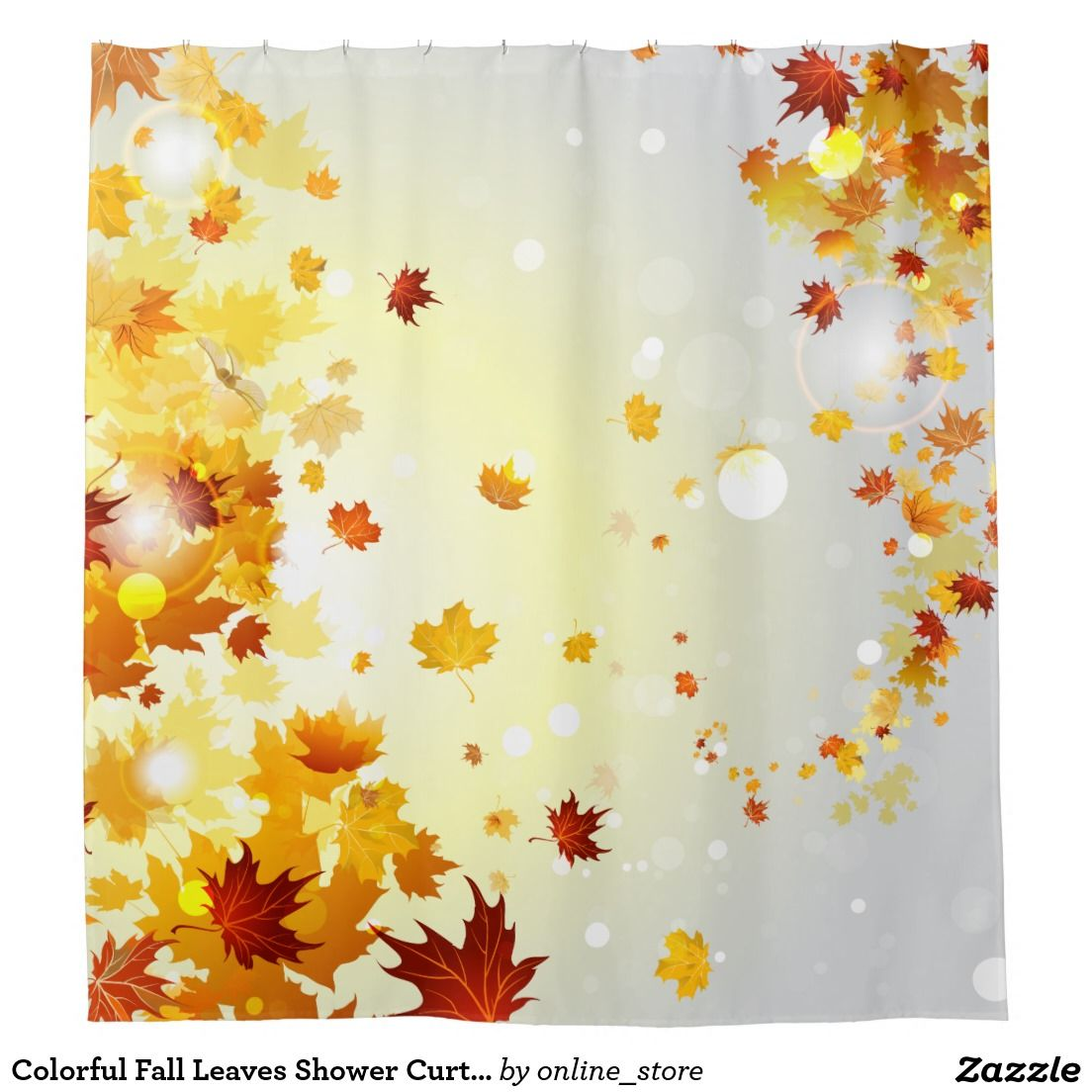 Colorful Fall Leaves Shower Curtain Zazzle Com Autumn Leaves
