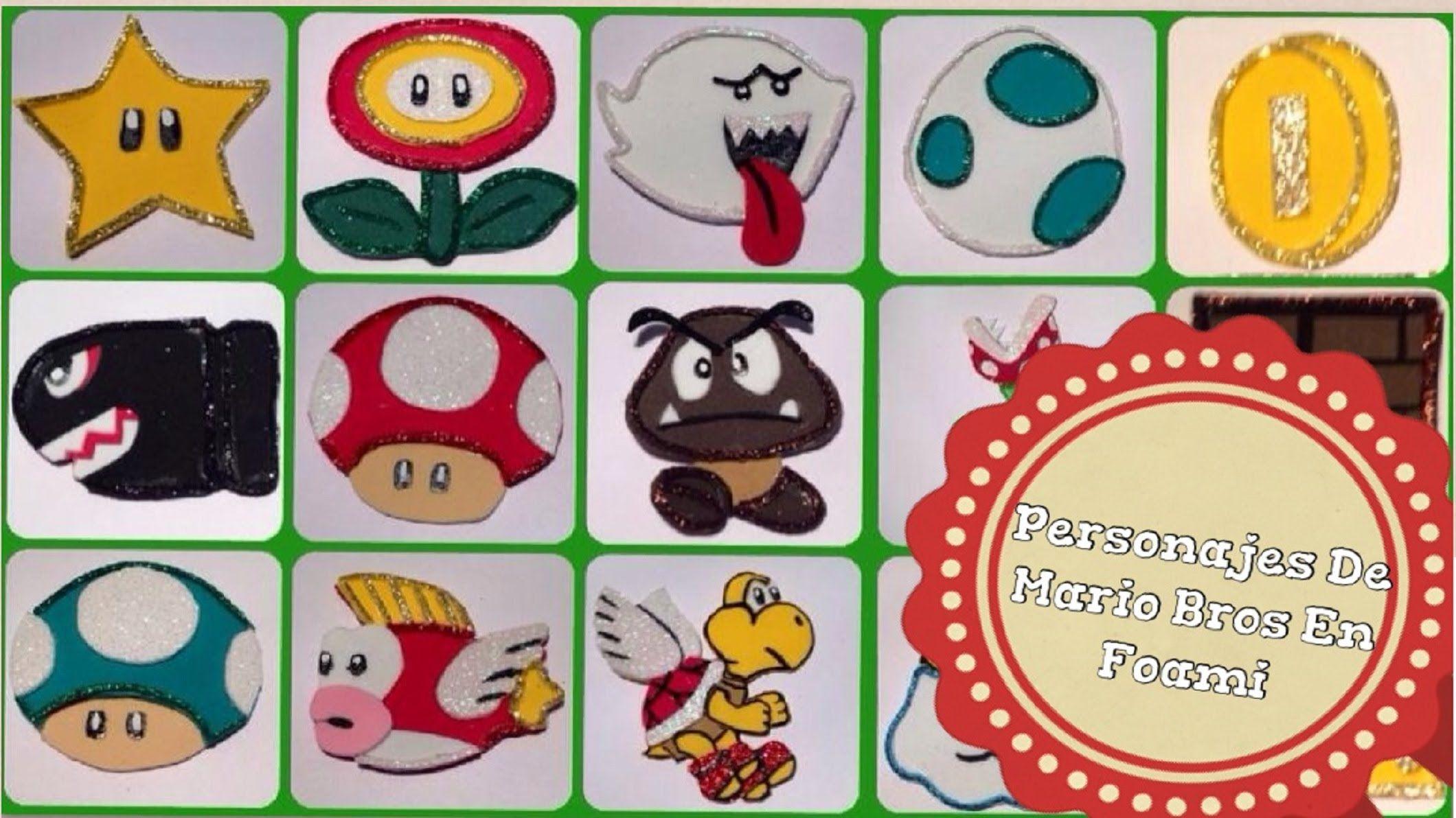 Personajes De Mario Bros En Foami Mario Bros Mario Juegos De Mario