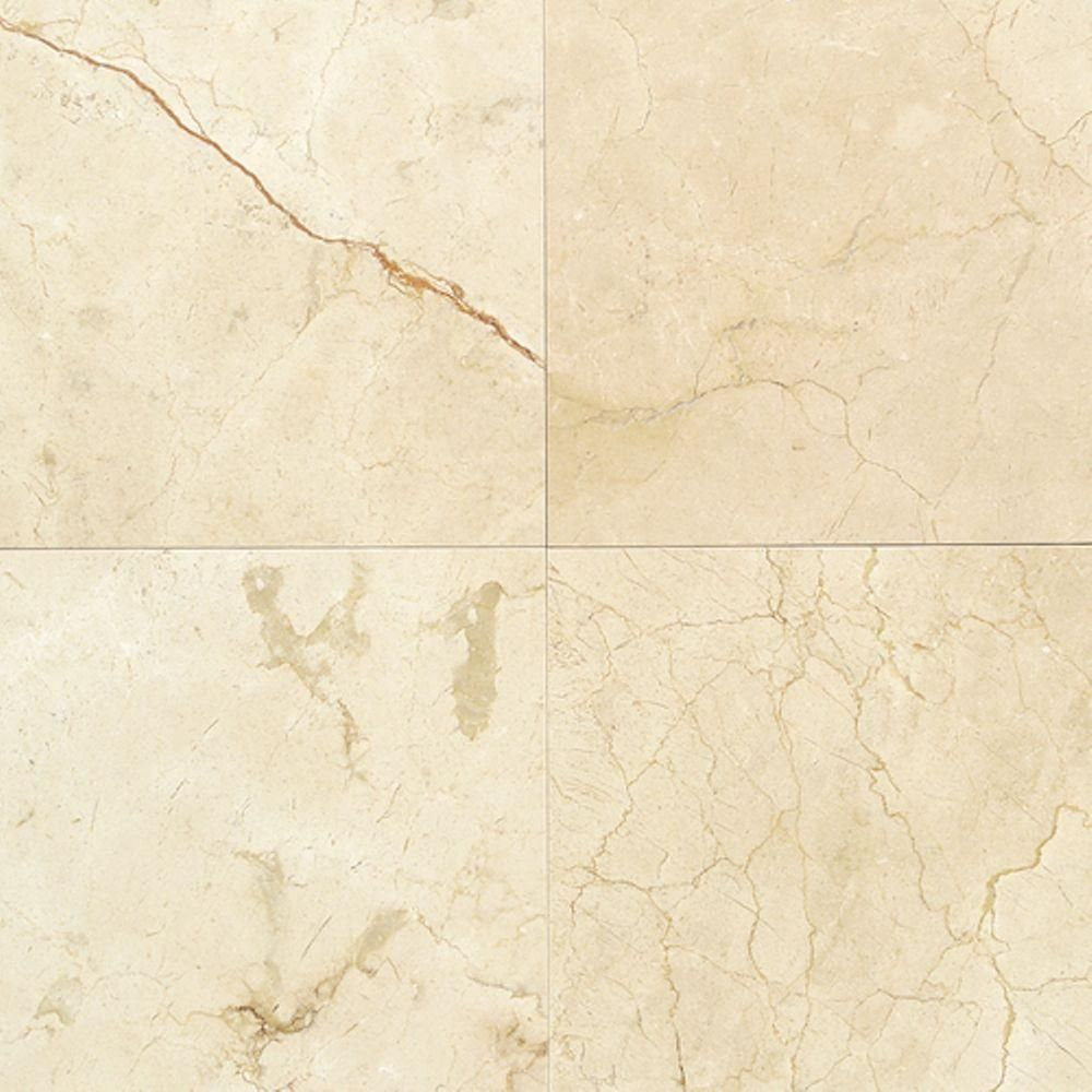 Daltile Natural Stone Collection Crema Marfil 12 In X 12 In Marble Floor And Wall Tile 10 Sq Ft Case M72212121l A Marble Floor Daltile Marble Look Tile