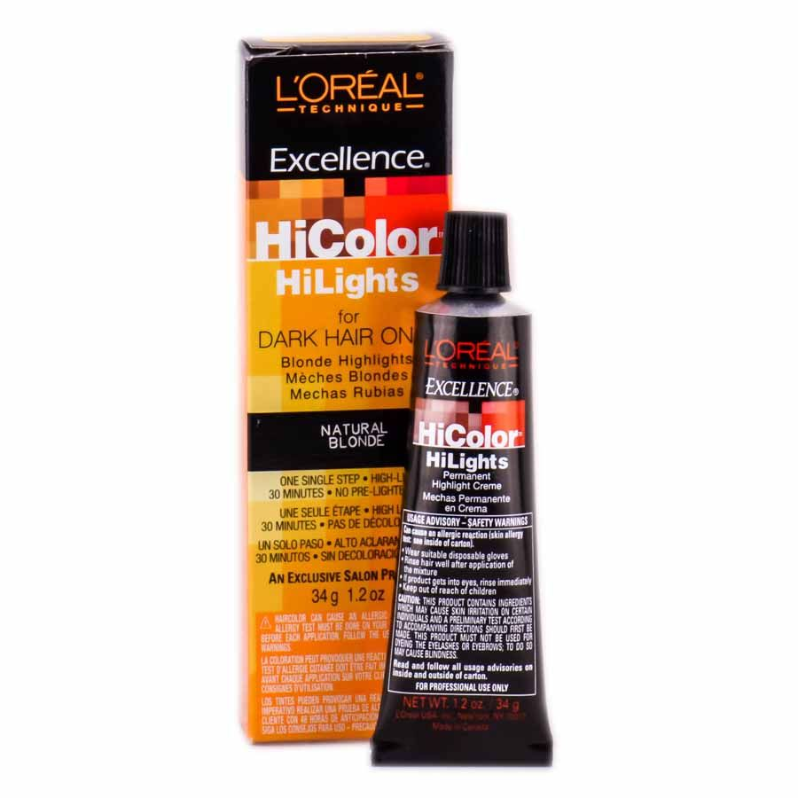 L Oreal Technique Excellence Hicolor Hilights For Dark Hair Only Blonde Highlights Natural