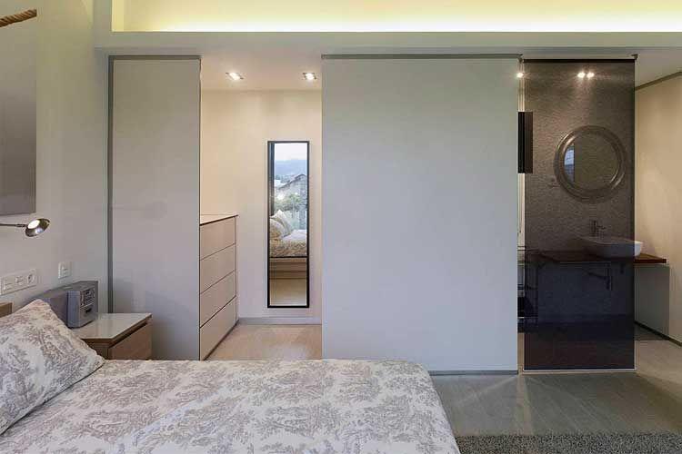 Ba os integrados en la habitaci n recamara pinterest for Banos abiertos a la habitacion