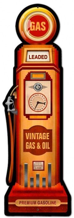 Vintage and Retro Wall Decor - JackandFriends.com - Vintage Gas Pump Metal Sign, $39.97 (http://www.jackandfriends.com/vintage-gas-pump-metal-sign/)