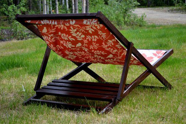 diy wood folding sling chair deck chair or beach chair adult