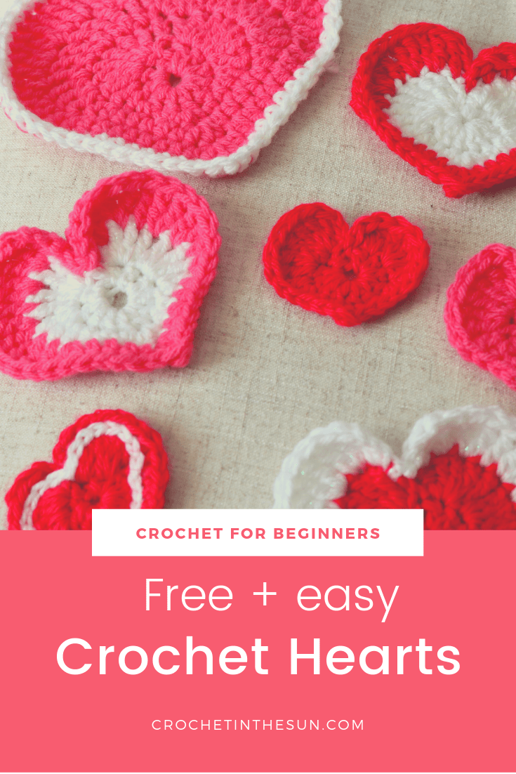 Crochet Heart Pattern That Is Free And Super Quick Mix And Match Repeat Crochet Heart Pattern Crochet Heart Crochet