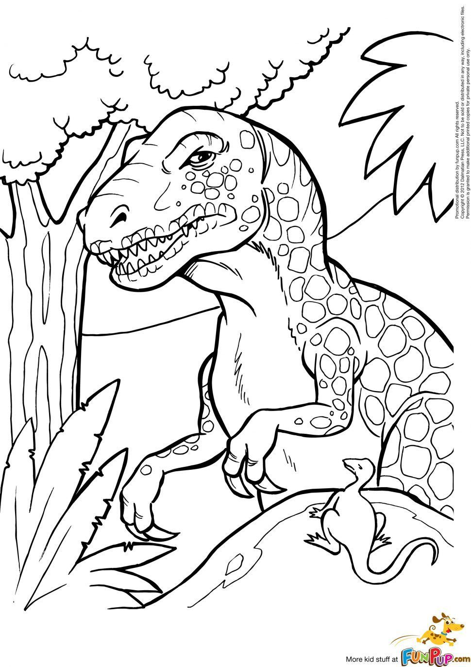 T Rex Coloring Page 13 Jpg 970 1373 Dinosaur Coloring Pages