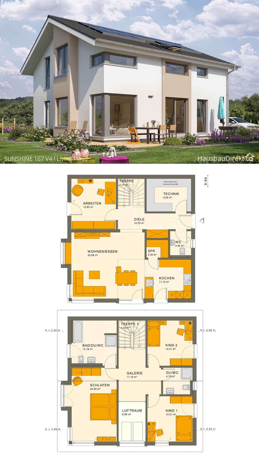 45+ Haus auf 200 qm grundstueck ideen