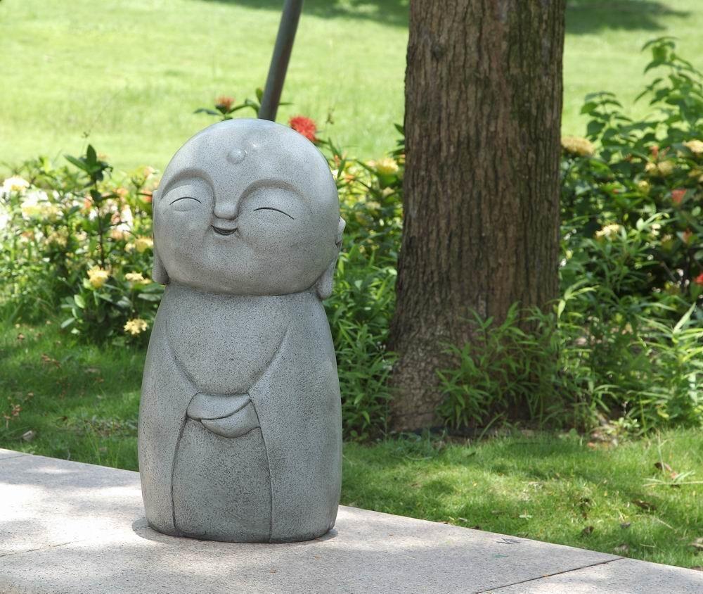 Smiling Lucky Japanese Jizo Statue