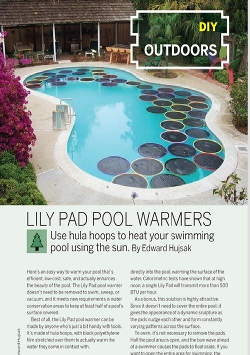 Weekend Project: Lily Pad Pool Warmers (PDF) | DIY | Pool warmer ...