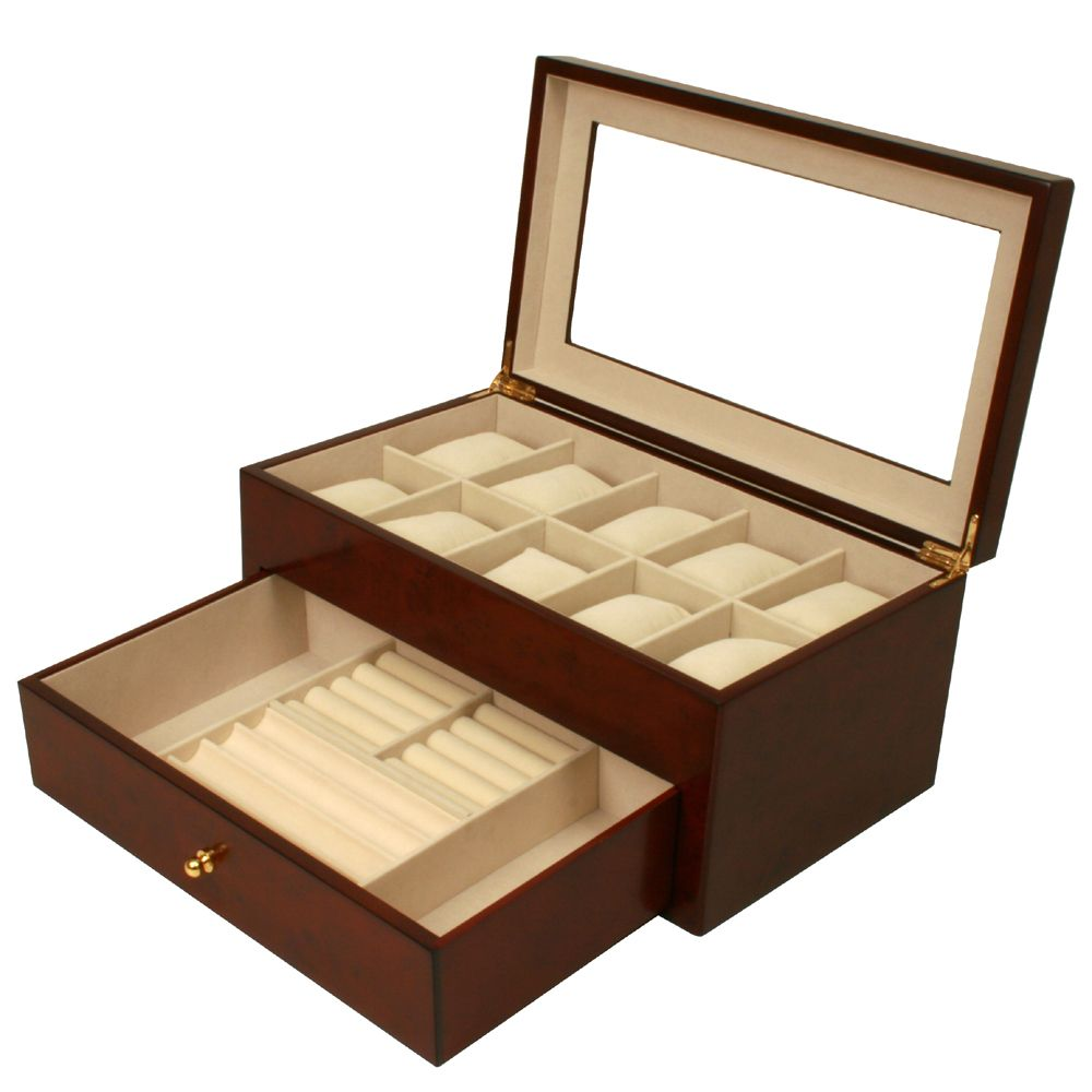 Techswiss Valet Watches Pens Jewelry Eyeglasses Extra Large Compartments Burlwood 89 95 Http Www Techswiss Com Valet Wa Boite A Bijoux Montre Mode Homme