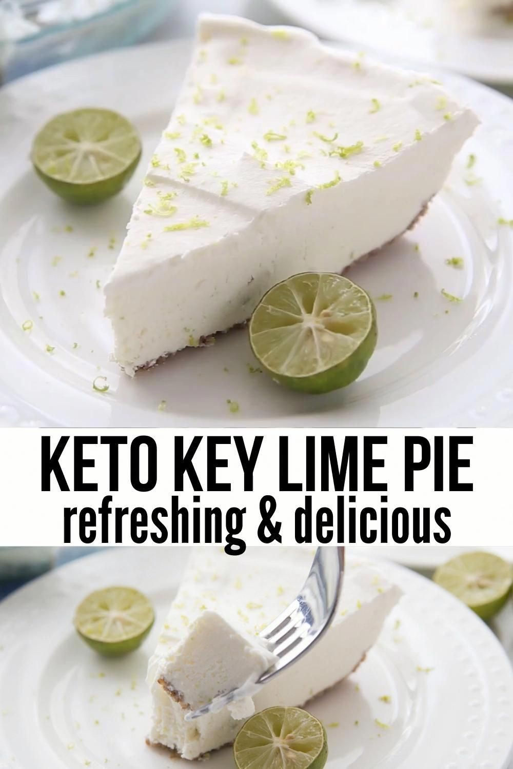 Best Keto Key Lime Pie with Pecan Crust (Easy!)