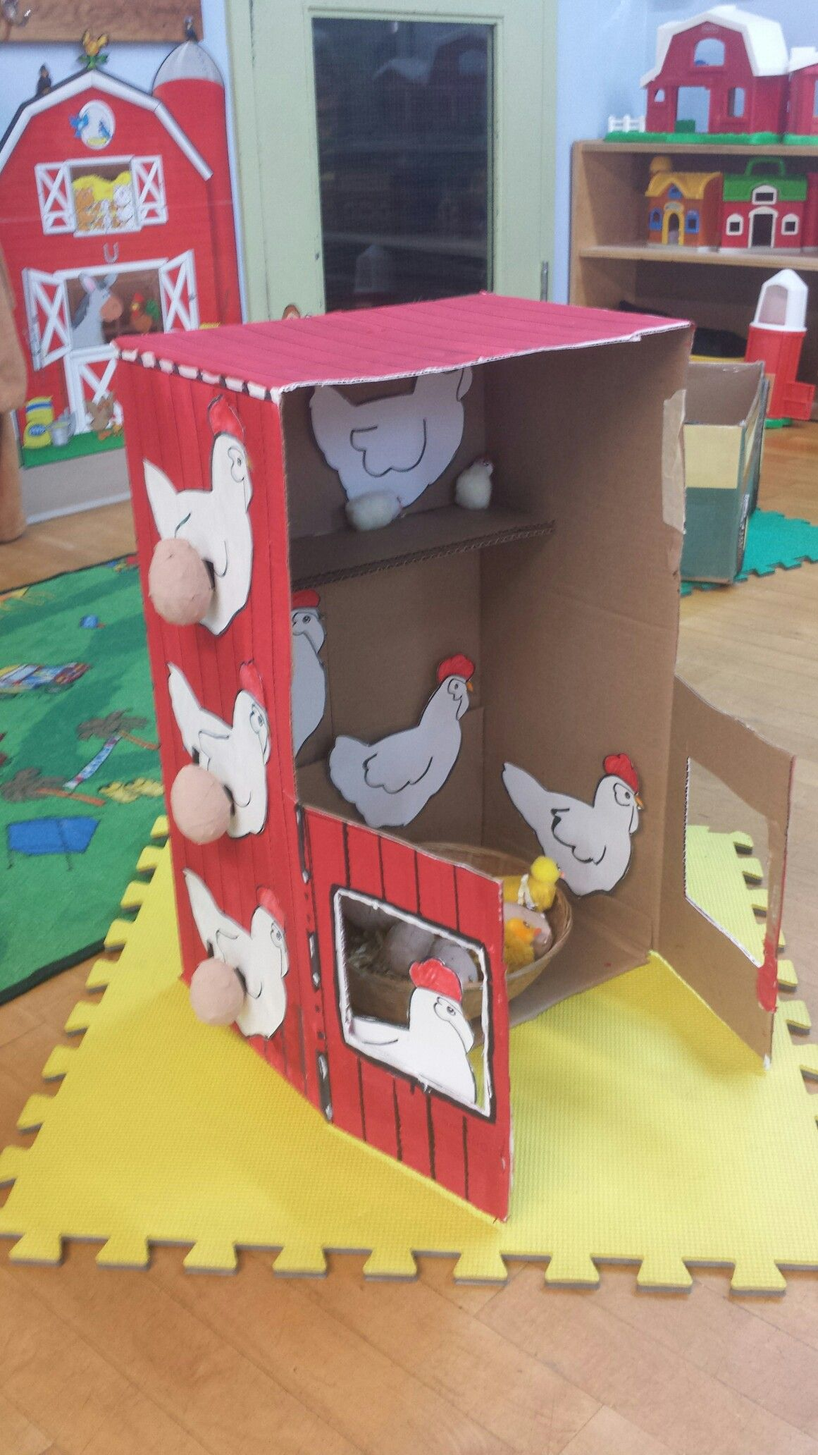 Farm Dramatic Play Diy Chicken Coop