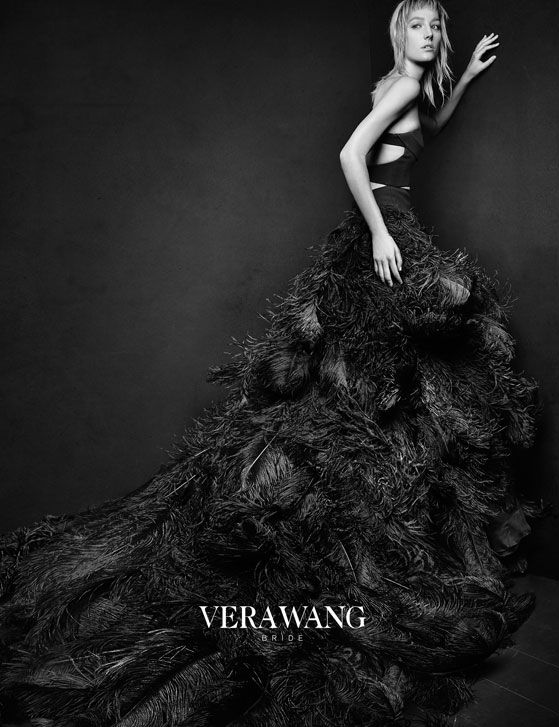 Vera wang spring 2016 bride ad campaign campaign spring and vera wang black bridal gowns for spring 2015 shot by patrick demarchelier junglespirit Image collections