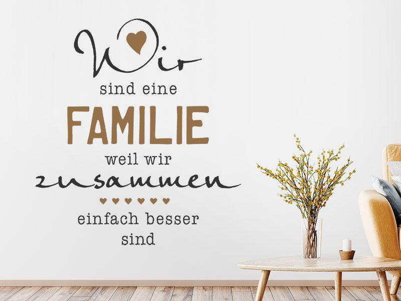 Wandtattoo Wir Sind Eine Familie Mit Herz Wandtattoos De Wandtattoo Familie Wandtattoo Wandtattoos