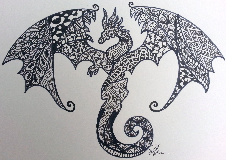 zentangle dragon - Google Search | Zentangle | Pinterest | Dragons ...