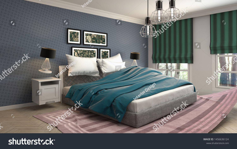 Zero Gravity Bed Hovering In Bedroom 3d Illustration Sponsored