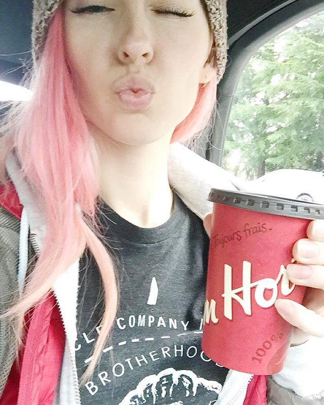 Oh... Back to school Back to school To Prove that I am not a fool I've got my lunch packed up, and my boots tied tight. I hope I don't get in a fight Ohh... Back to school!!!  #backtoschool #springsemester #timhortons #coffee #thankyou #selfie #car #carselfie  #me #pink #pinkhair #manicpanic