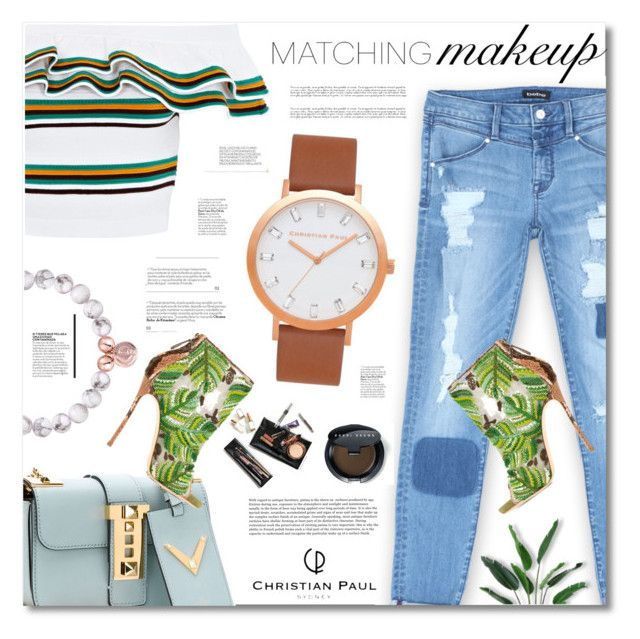 """""""Christian Paul - Watches & Bracelet"""" by defivirda ❤ liked on Polyvore featuring Valentino, MSGM, Bebe, Bobbi Brown Cosmetics and Dsquared2"""