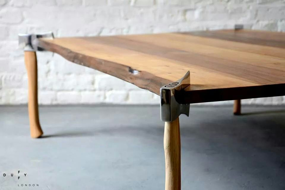 Schon Waney Edge Woodsman Axe Coffe Table