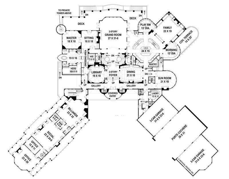 Balmoral House Plan Castle House Plans Luxury House Plans Castle Plans