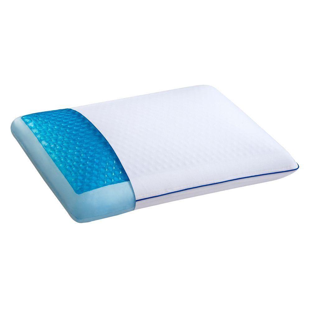 Sleep Innovations Cool Gel Hd Memory Foam Pillow White Foam