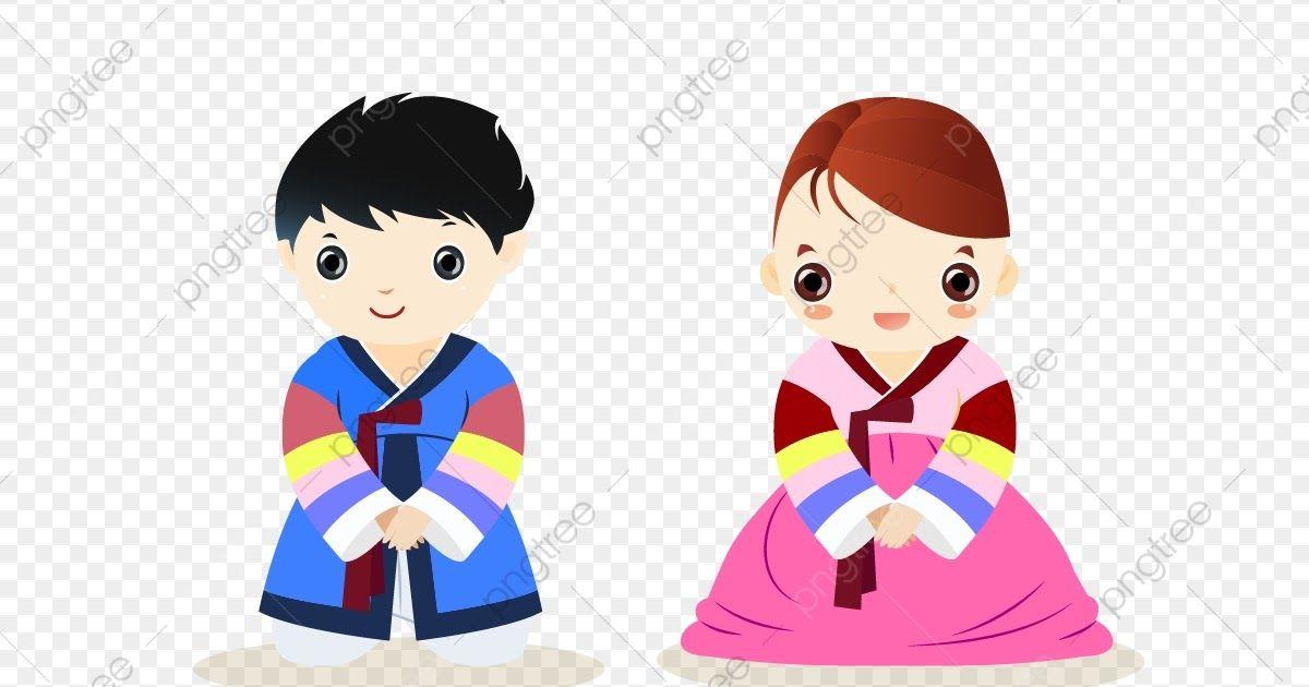 30 Gambar Kartun Anak Laki2 Dan Perempuan Tangan Dicat Anak Laki Laki Dan Perempuan Memakai Hanbok Download Islami Gifs Tenor Downloa Di 2020 Kartun Gambar Anak