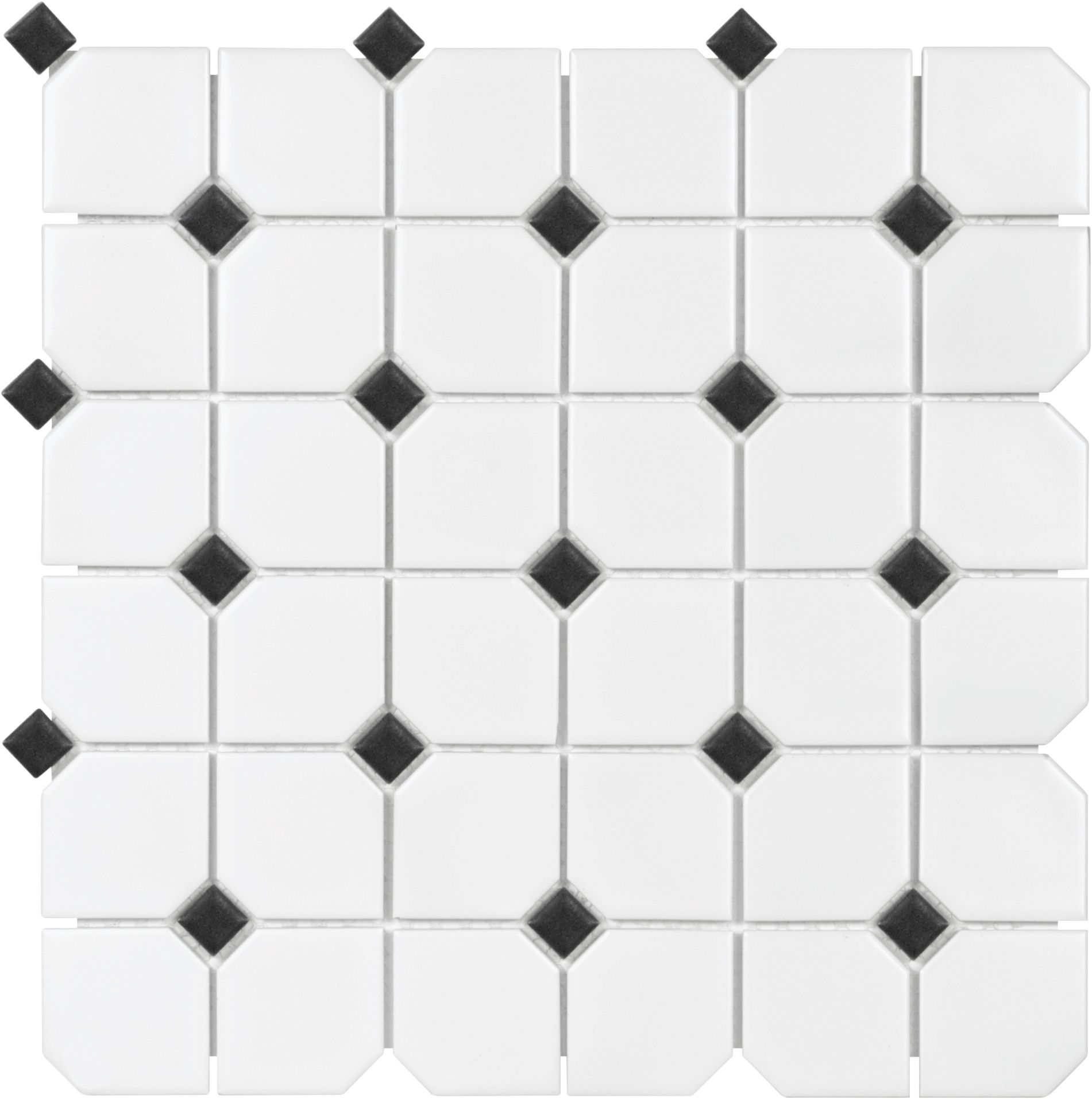 Specialty tile sobu black and white dot mosaic house ideas sail x ceramicporcelain mosaic tile in matte onyxwhite dailygadgetfo Gallery