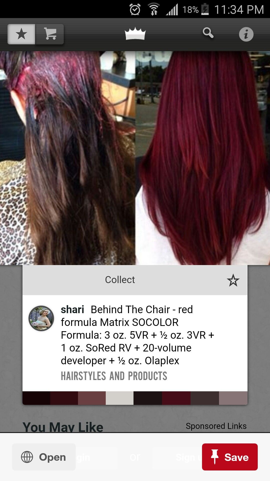 Matrix Formula With Images Hair Color Formulas Hair Color