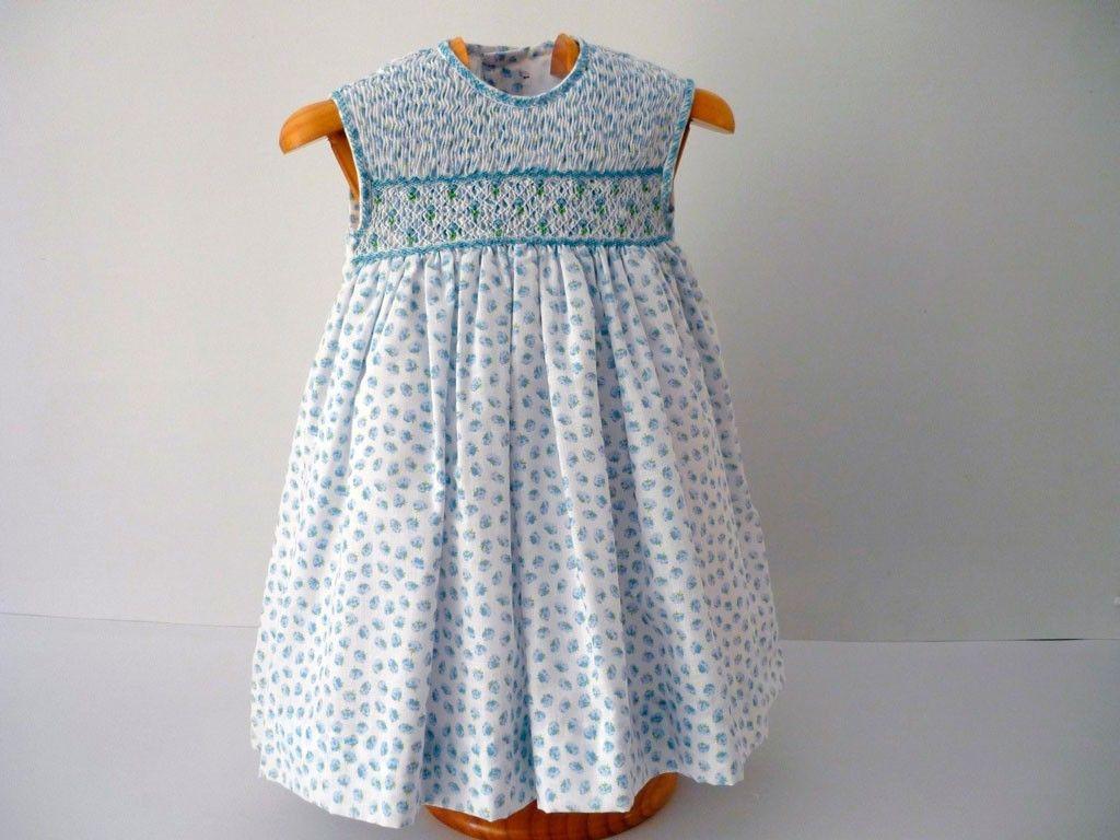 Patrones vestidos nina punto smock
