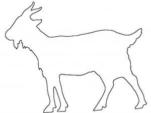GOAT STENCIL ANIMAL STENCILS TEMPLATE CRAFT PAINT ART FARM PATTERN TEMPLATES NEW