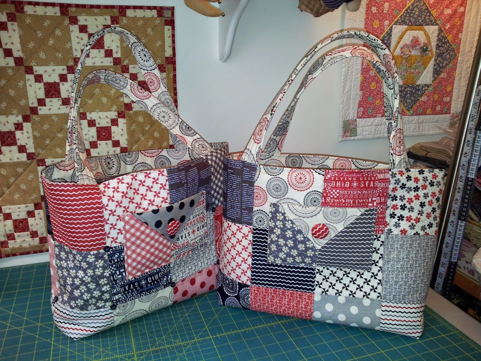 Image result for charm party tote pattern