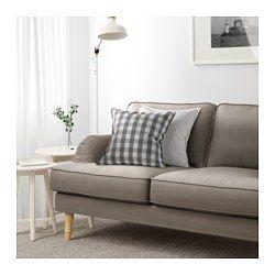 Stocksund 2er Sofa Ljungen Blau Hellbraun Holz Lights