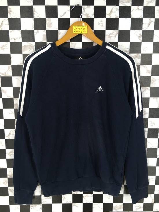 134812b0fa001 Vintage ADIDAS Equipment Sweater Large Women Blue 90's Adidas Three ...