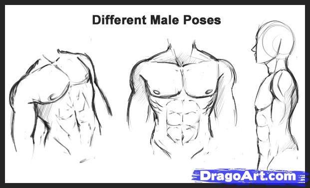 аниме как рисовать мужское тело: