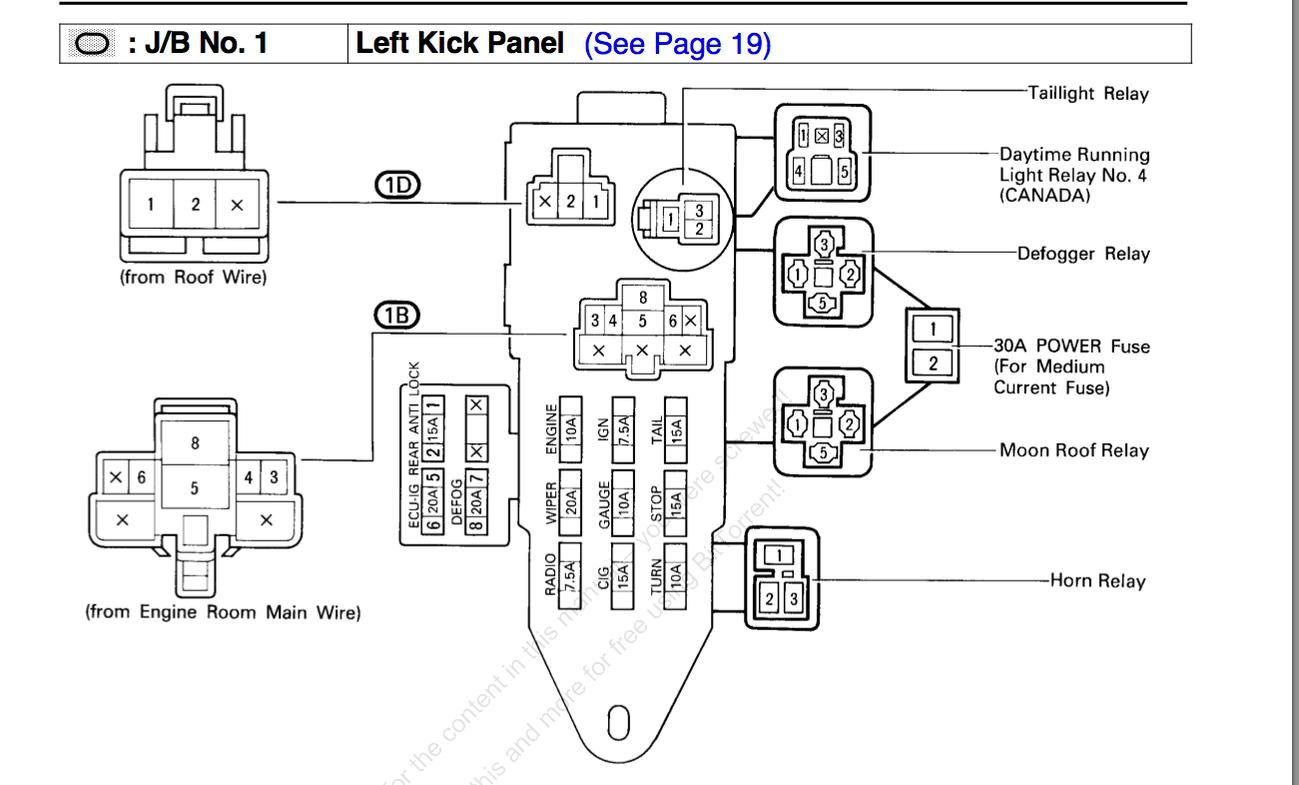 2014 Toyotum 4runner Fuse Diagram