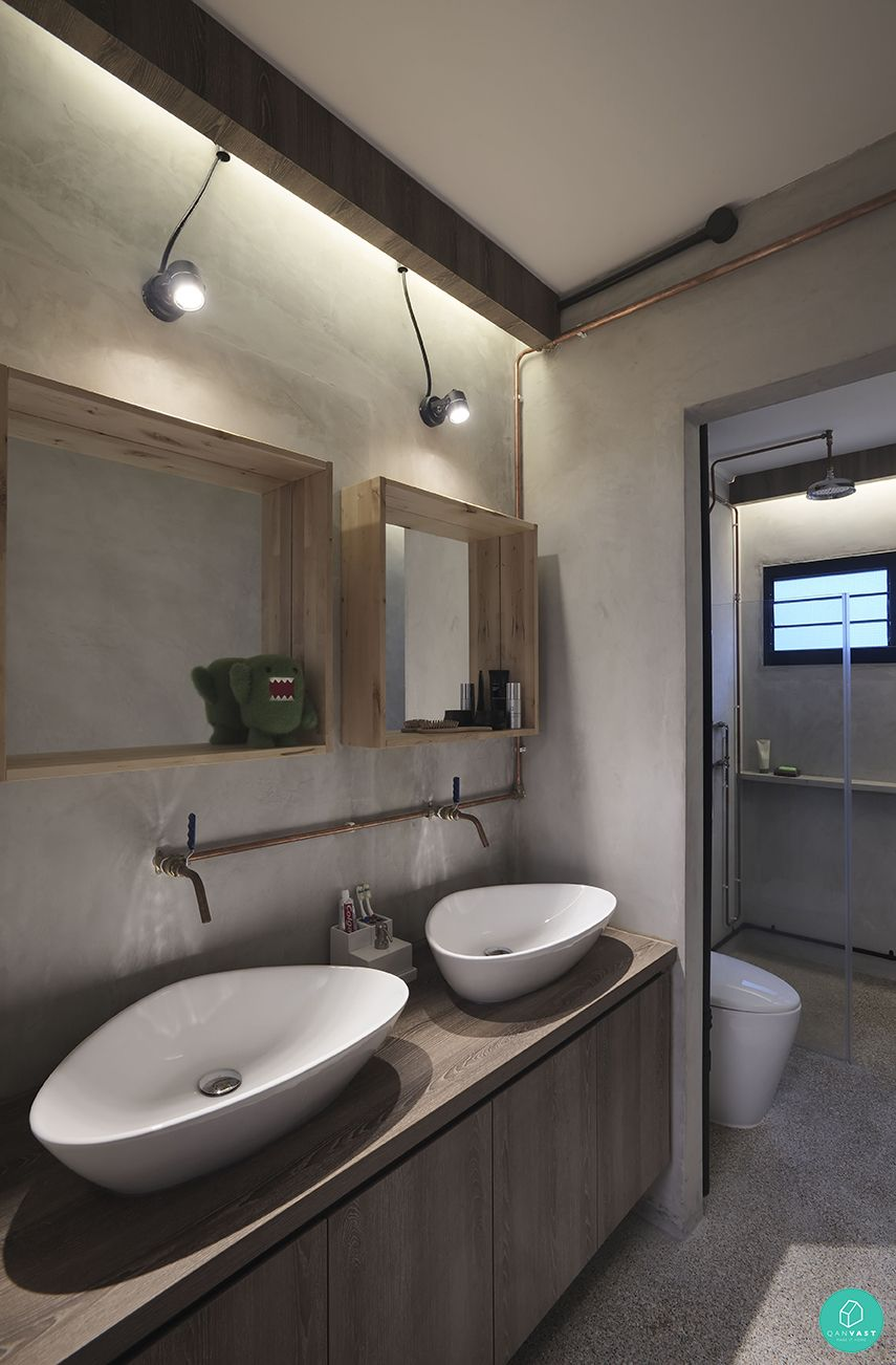10 interesting bathroom designs for your home wall wood for Bathroom designs singapore