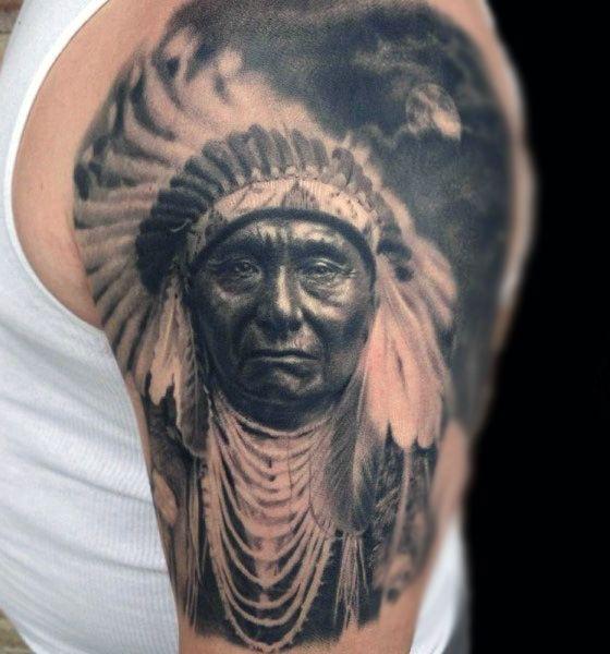 100 Native American Tattoos For Men Ideas 2020 Inspiration Guide Native American Tattoos American Indian Tattoos Native Tattoos