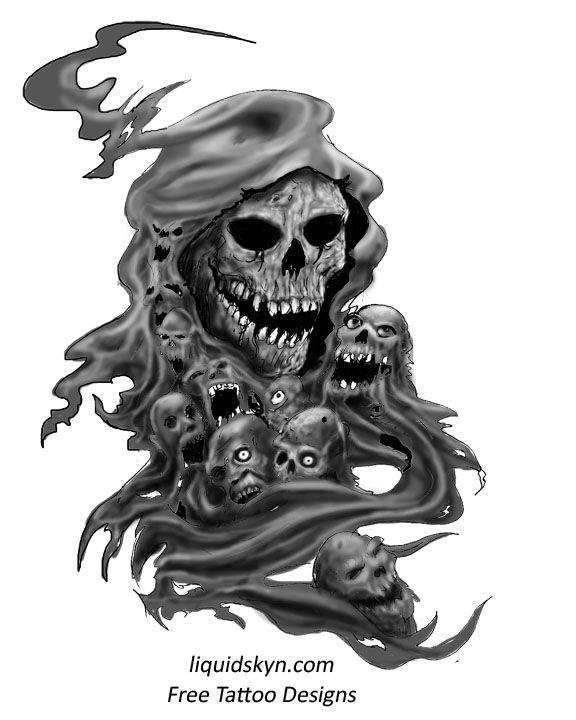 Grim Reaper Skull Tattoos Grim Reaper Tattoos Free Tattoo