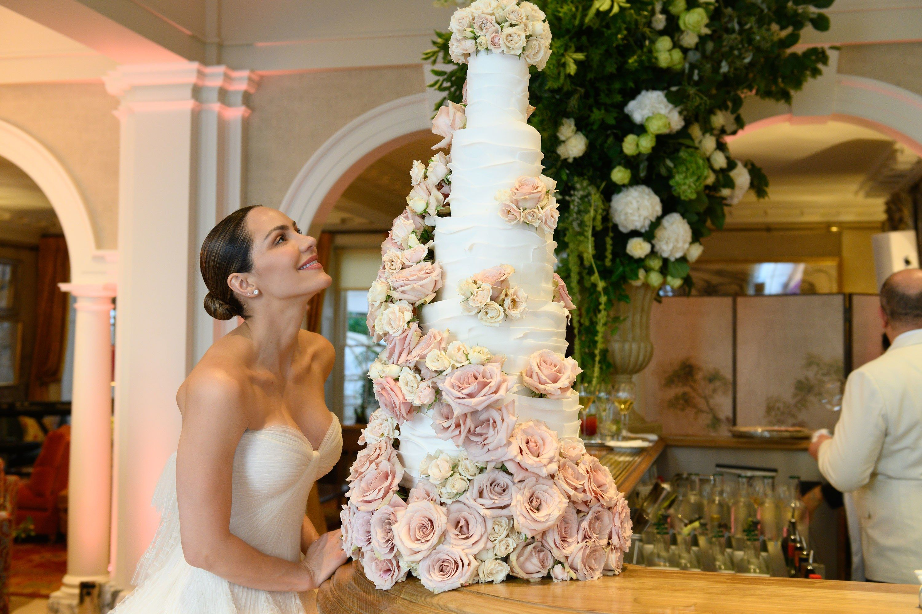 An Exclusive Look Inside Katharine Mcphee And David Foster S Wedding In London Katharine Mcphee Wedding Zac Posen Wedding Gowns