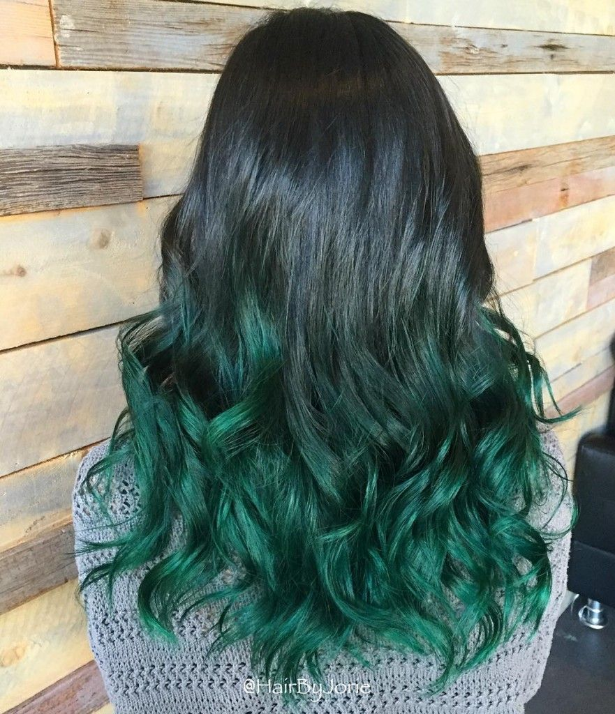 Mermaid Green Ombre (With images) | Ombre hair color ...
