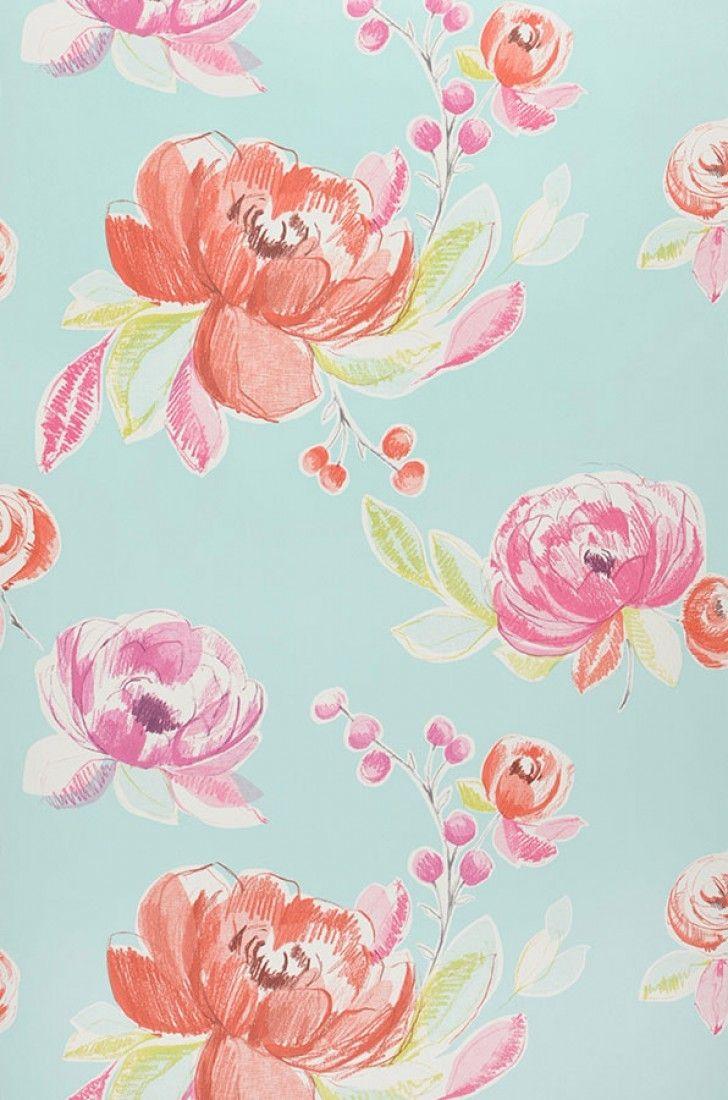 Papel De Parede Seraphine Papel De Parede Dos Anos 70 Flower Wallpaper Wallpaper Pattern Wallpaper