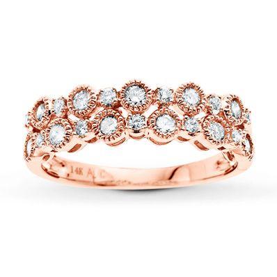 Kay Diamond Ring 1/2 ct tw Round-cut 14K Rose Gold