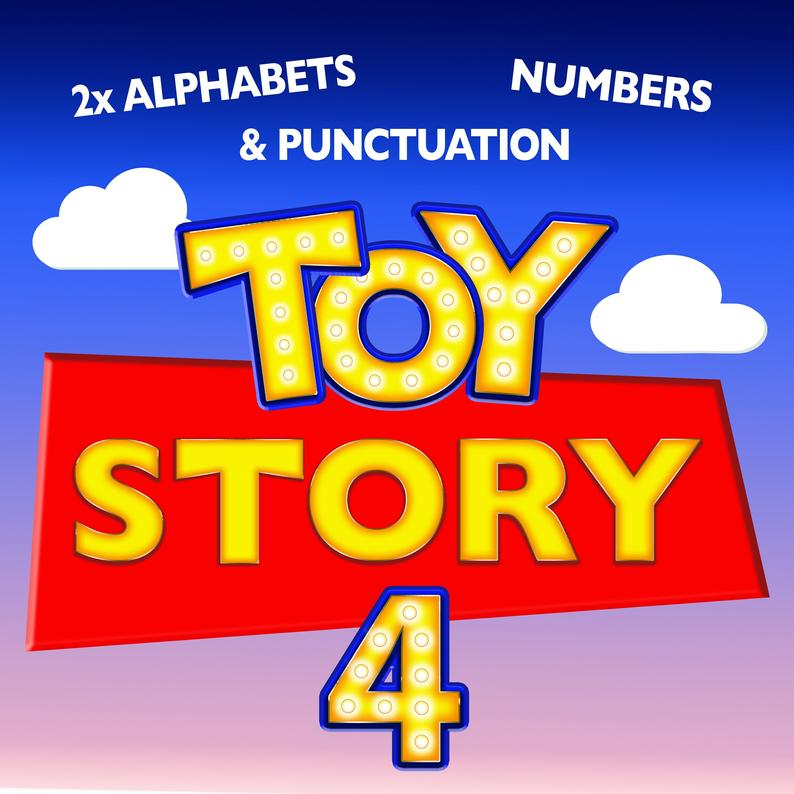 Toy Story 4 Party Disney Pixar Font Clipart Letters Alphabet Etsy Clipart Letters Lettering Alphabet Alphabet And Numbers