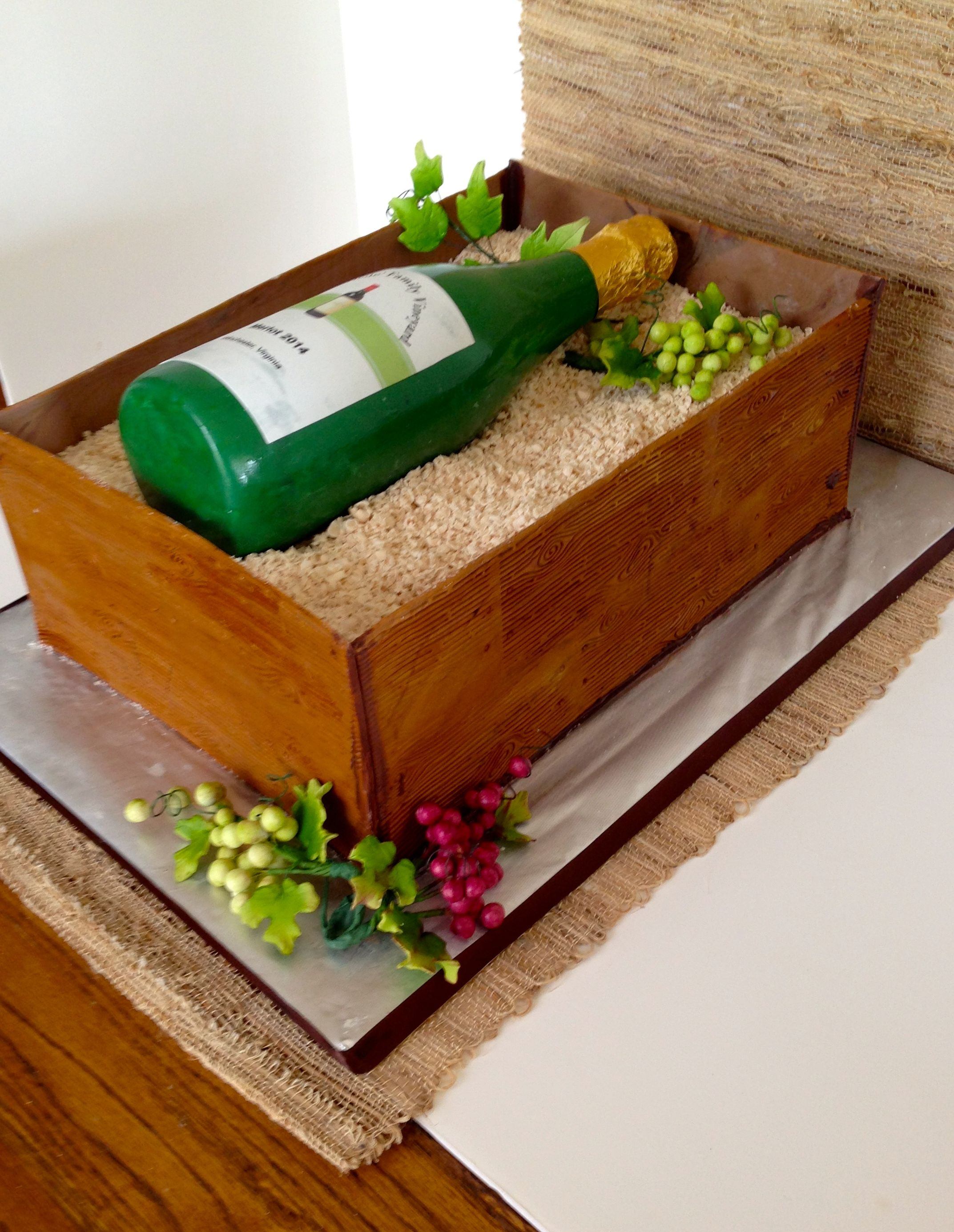 Wine Crate Cake Made For A Vineyard Planting Party All